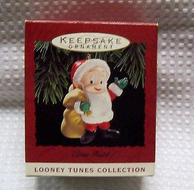 Hallmark Keepsake Ornament Elmer Fudd As Santa Looney Tunes 1993  Adorable!!