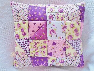 Patchwork Quilt Kit COMPLETE Quilting Set Cushion Kit Purple Easy First Project!