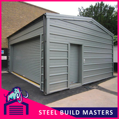 HORIZONTAL CLAD BUILDING BY STEEL BUILD MASTERS (6m W x 5.44m L x 2.7m H)