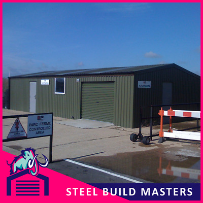 WORKSHOP/STORAGE STEEL BUILDING BY STEEL BUILD MASTERS (6m W x 12m L x 2.7m H)