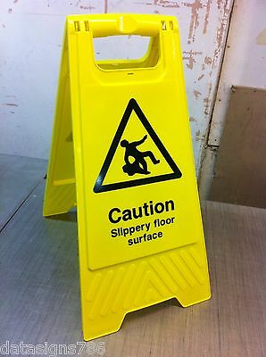 Caution Slippery Floor (Health And Safety Sign)