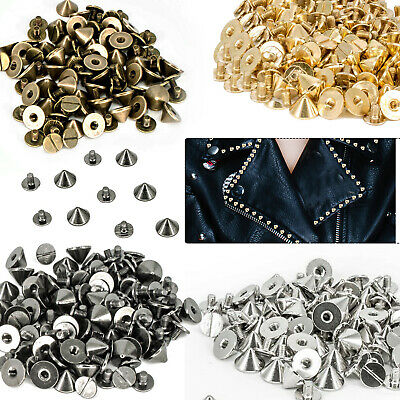 Converse Shoes Punk Spike Cone Screw Back Studs/Rivets in 9.5mm x 6mm - UK