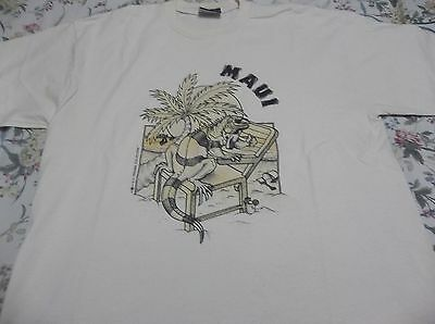 Vintage 1999 Maui Hawaii  T Shirt Size Large Free U.s. Shipping Look