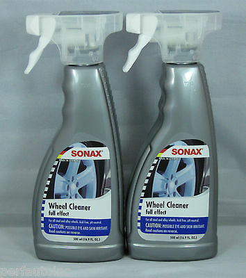 Sonax Full Effect Wheel Cleaner 16.9Oz Spray 2 Pack Strong Gentle Effective