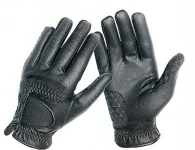 Horse Riding Gloves - Synthetic - Black