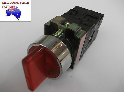 Illuminated Red 3 Position  Selector Switch  240V