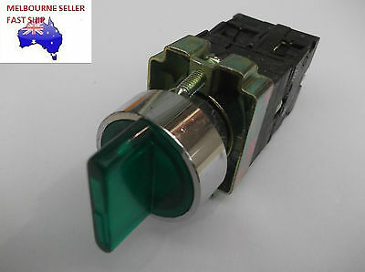 Illuminated Green  3 Position  Selector Switch  240V