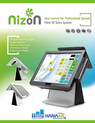 """All-in-One POS with 15"""" Touch Screen and 9.7"""" Customer Display"""