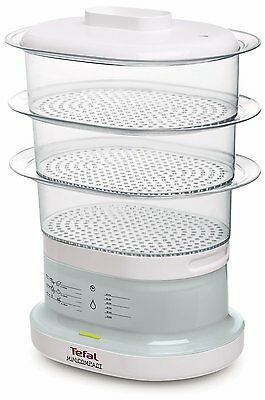 Tefal VC130115 7 Litre Capacity 3 Tier Food Steamer in White