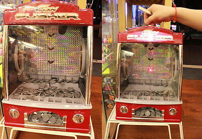 Novelty Fairground Coin Pusher Arcade Game Replica Penny Pusher Family Children