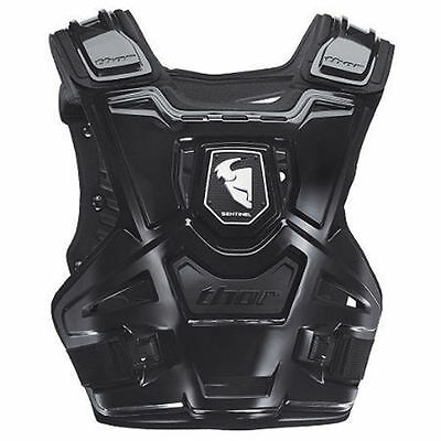Thor NEW Mx Sentinel Black Youth Kids Motocross Chest Body Armour Roost Guard