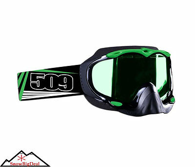 509 Sinister Snowmobile Goggles Green 2013 Snowmobiling Snow Goggle