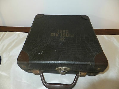 Vintage First Aid Case with Compartments #1094