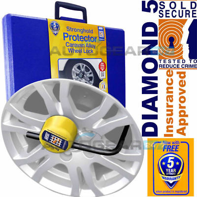 SH5432 Stronghold Protector Caravan Insurance Approved Security Wheel Clamp Lock