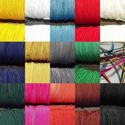 14 COLOUR Elastic 2mm Round & 5mm Flat Bungee Hat Stretch Cord Mask BUY 1 2 4 8m