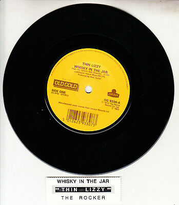 THIN LIZZY Whisky In The Jar & The Rocker 45 record + juke box strip NEW WHISKEY