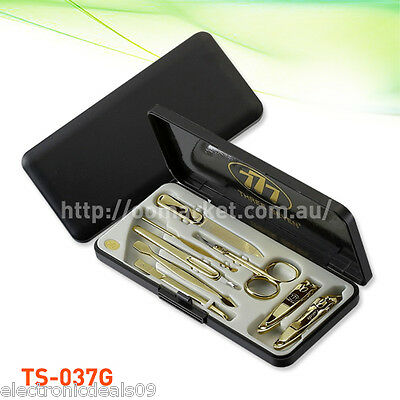 8 pcs Three Seve Gold Nail Clipper Kit - Stainless Steel (TS-037G) FREE POSTAGE