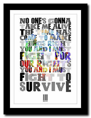 ❤  MUSE - Knights Of Cydonia ❤ song lyric poster typography art print - 4 sizes