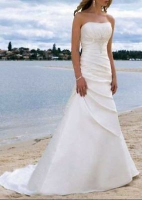 STOCK New Sexy White / ivory Wedding Dress Bridal Gown Size 6-8-10-12-14-16