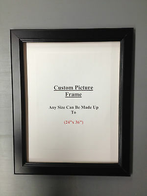 """CUSTOM  Made in USA 1 3/8"""" Black Picture Frame"""