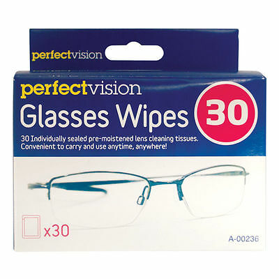 150 Optical Lens Wipes Cleans Glassess Individual Sachets Glass Cleaner