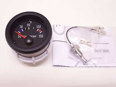 RSR Öltemperatur Anzeige SET 52mm Retro Geber Oil Gauge 16V G60 G40 VR6 Turbo S2