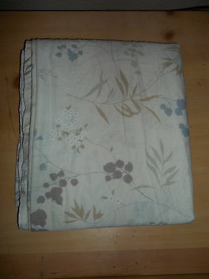 Adorable Vintage Full Flat Sheet, Ivory W/ Multicolored Floral Print, TOO CUTE!