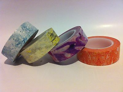 Washi Tape Marble Designs Choose Your Colour  15Mm X 10Mtr Roll Scrap Plan Wrap