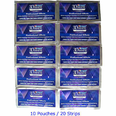 Crest 3D LUXE Professional Effects 20 Strips 10 Pouch (Made in USA)