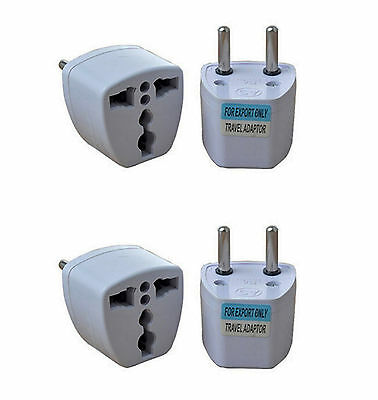 2x Adaptador Enchufe Conversor UK Ingles a Europeo UE Asia USA EEUU Plug 2616