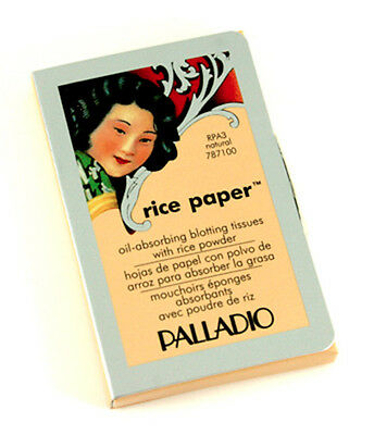 3 packs Palladio Rice Paper (Natural) Oil Absorbing Facial Tissues