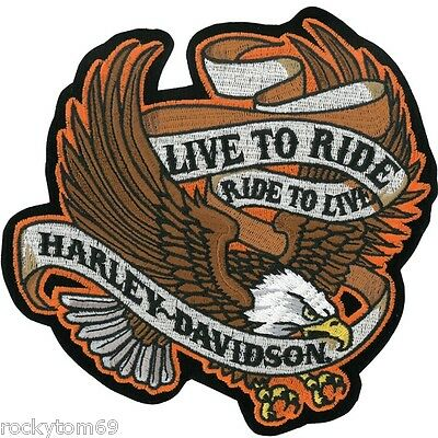 Harley Davidson Patch Live To Ride Ride To Live Vest Or Jacket