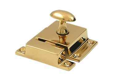 Cupboard Latch Cabinet Lock Large Solid Brass in 9 Finishes By FPL Door Locks
