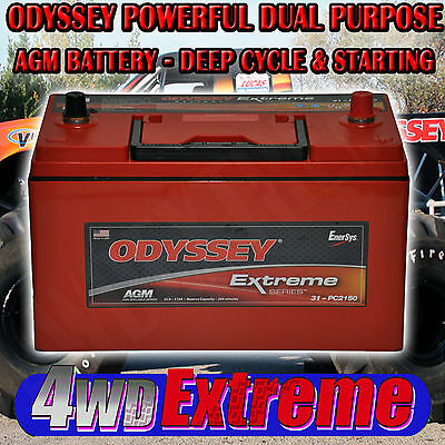 Odyssey Pc2150 Dry Fit Agm Battery 1150Cca Dryfit 100Ah Deep Cycle