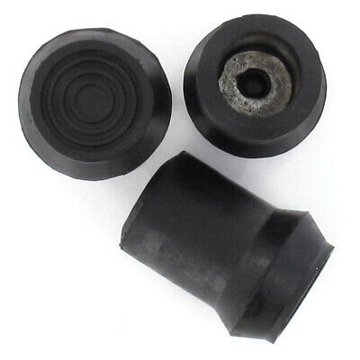 D Type Rubber Ferrules All Sizes For Walking Sticks & Canes
