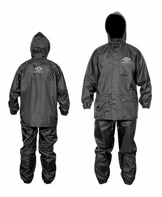 Motorcycle Rain Suit 100% Water Proof Rain Wet Weather Pants Jacket 2 PC Suit