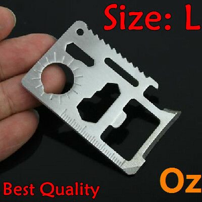 Multi-function Tool Card, Quality 11 in 1 Survival Tool Card Stainless weirdland