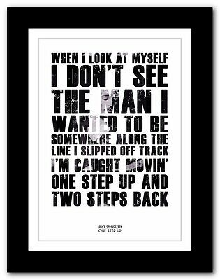 ❤ BRUCE SPRINGSTEEN - One Step Up ❤ song lyric poster typography art prints