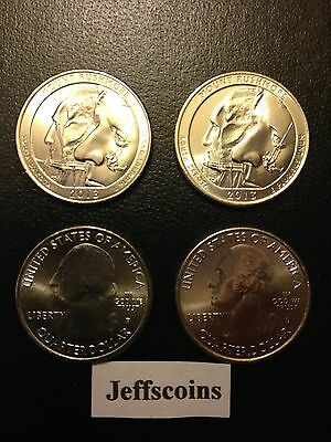 2013 2P+2D Mt. Rushmore National Memorial ATB QUARTER 4 Coin PD SET Black Hills