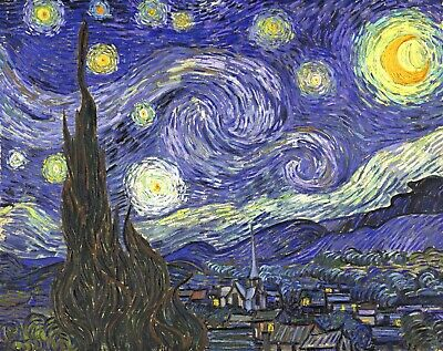 Starry Night by Vincent Van Gogh Giclee Fine Art Print Reproduction on Canvas