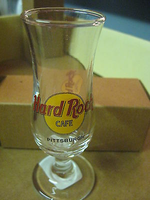 "Hard Rock Cafe 4"" Tall Double Shot Glass & Box Small Hurricane Pittsburgh # 45"