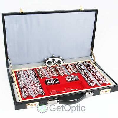 266pcs Metal Rim Trial Lens Set Leather Case + Presented Trial Frame Gift