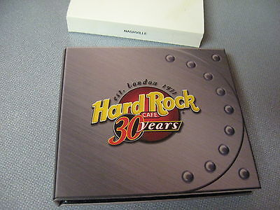 Hard Rock Cafe 30 Year Anniversary 5 Pin Guitar Set In Box With Cover Nashville