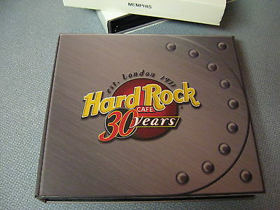 Hard Rock Cafe 30 Year Anniversary 5 Pin Guitar Set In Box With Cover Memphis