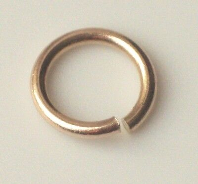 9ct Gold Jump Ring Yellow Open Light & Heavy 3mm 4mm 5mm 6mm 7mm 8mm