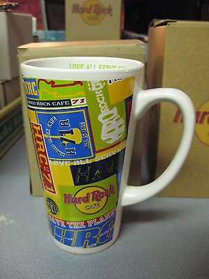 Hard Rock Cafe Tall Oversized Mug Large HRC Cup White Pittsburgh