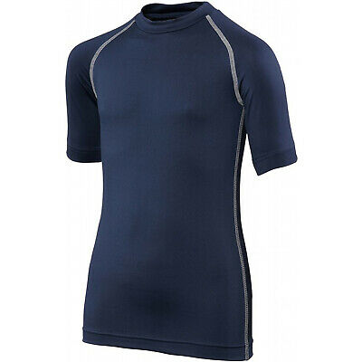Rhino Base Layer Tops Junior Short Sleeve Sports Compression For Boys/Girls/Kids