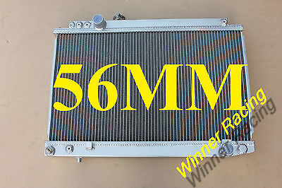 56mm alloy radiator for Toyota Supra MA70 7MGTE 7M-GTE 3.0l l6 Turbo MT 87-1992