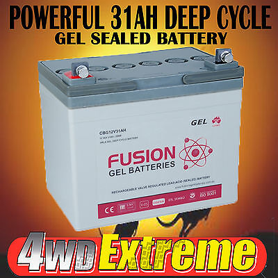 12V 31Ah Gel Deep Cycle Battery Golf Buggy,caravan,4Wd,dual System Cbg12V31Ah