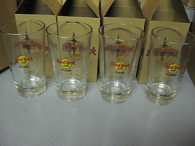 4 Hard Rock Cafe Beer Glasess HRC Complete Pittsburgh Collector Series 1 2 3 4